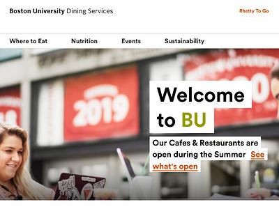 BU Dining dining boston university