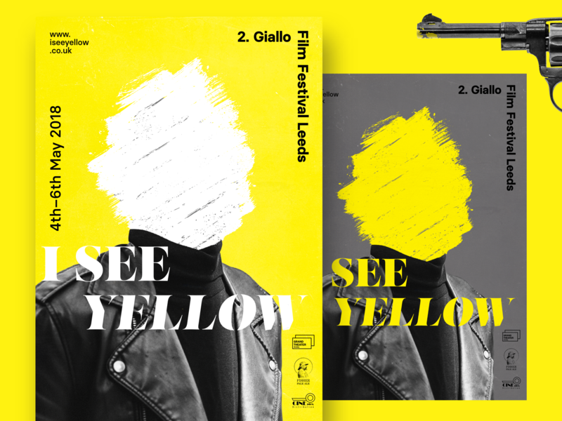 Giallo Film Festival Poster Series movies yellow black branding poster art giallo film festival poster