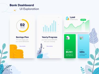 Bank Dashboard UI Exploration