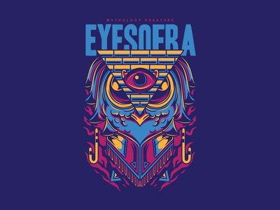 Eyes of Ra egyptian owl clothing tees streetart urban apparel project custom design t-shirt design illustration