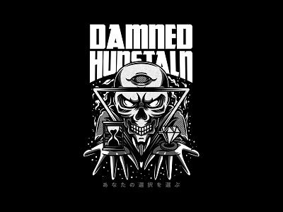 Damned Hunstaln metal band events merch clothing streetwear urban apparel project custom design t-shirt design illustration