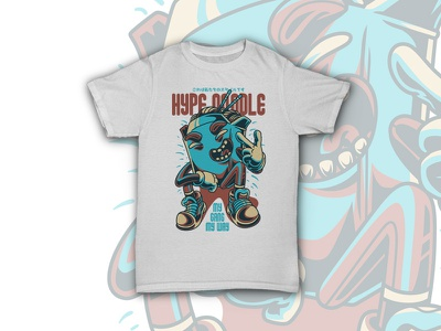 Hype Noodle fashion hype youth club stock streetwear urban custom design vector dope illustration