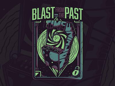 Blast from the Past pop art puzzle series game urban custom design project streetart apparel t-shirt design illustration