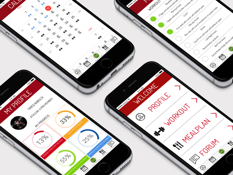 Fitness app redesign mobile fitness redesign