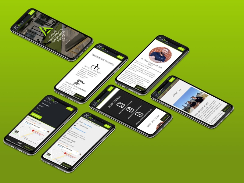 Adapt Physical Therapy Website mobile version physical therapy responsive mobile
