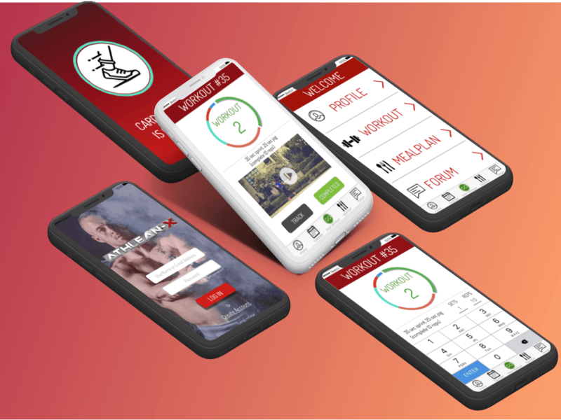 Fitapp case study redesign iPhoneX wireframes iphonex redesign fit