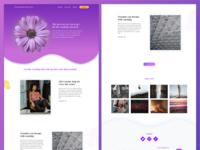 Life Coaching landing page design purple life coaching web design sketch landing page ui responsive design wireframes