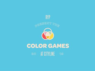 Color Games logo badge games playful cute design logo rgb cmyk color