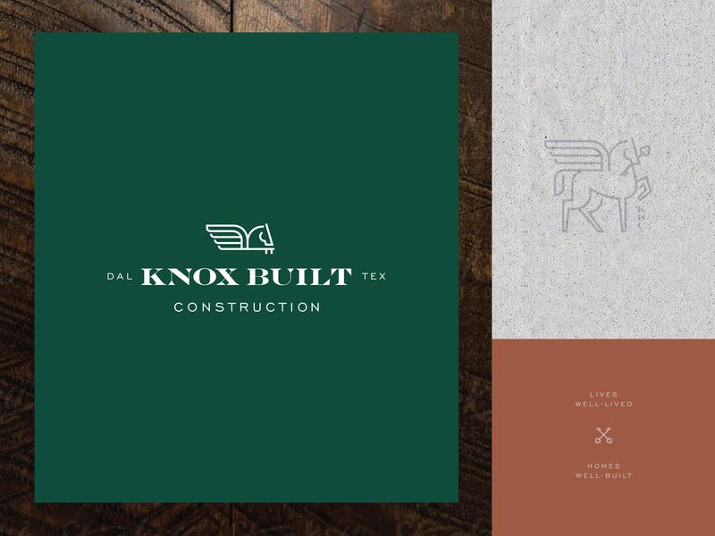 Luxury Homes type set type lockup branding builders horse logo pegasus construction homes