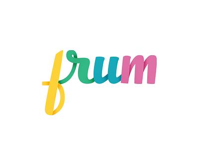 Frum hand-Lettered Logo-Type hand lettering sketch lyra brush modern logo wip brush pen logo-type calligraphy lettering hand-lettering