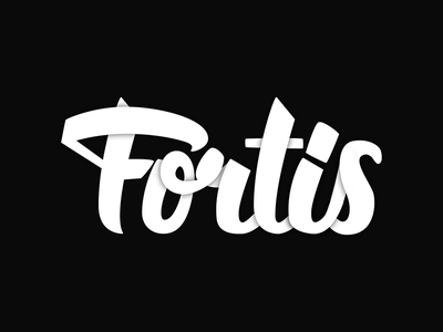 Fortis Hand-Lettered Logo-Type shadow slketch typography brush pen calligraphy type logo-type logo hand lettering lettering hand-lettering