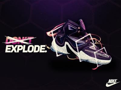 Don't Nike Concept - LeBron XIII photoshop billboard brand powerful shoes nike modern poster brand identity
