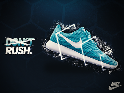 Don't Nike Concept - Roshe modern logo nike photoshop billboar poster brand brand identities