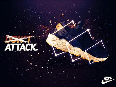 Don't Nike Concept - Huarache concept advertisement billboard modern huarache poster nike brand brand-identity