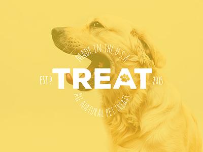 Treat - Logo Design // Branding earthy modern custom type font type logo-type logo branding pet dog