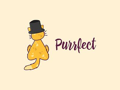 Purrfect - Logo Design design simple cute cat modern illustration logo-design logo