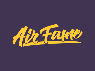 AirFame - Hand-Lettering Logo-Type typography calligraphy lettering hand lettering trending logo-type logo