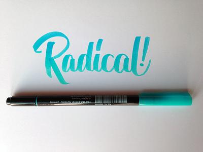 Radical! - Hand-Lettering Practise radical hand lettering hand-lettering typography calligraphy lettering dude surfing