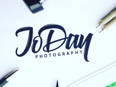 Jo Day Photography - Logo Design typo design typography type calligraphy lettering hand-lettering