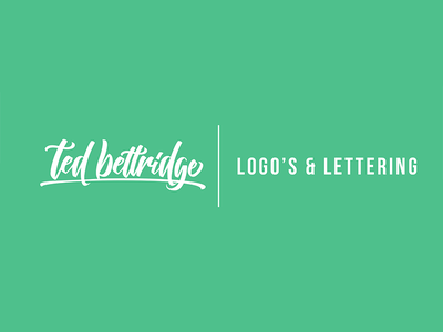 TedBettridge Design - Updated Logo handtype hand-lettering calligraphy modern typography type lettering revamp update logo