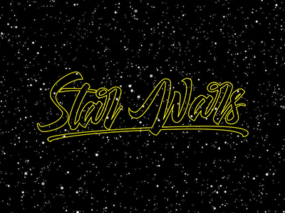 May The 4th Be Wih You! Happy SW Day! typography type custom type hand-lettering handlettering calligraphy maythe4thbewithyou lettering may 4th star wras