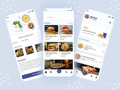 Burger App - UI Design interface concept minimal flat clean ui ui ios ux uiux mobile app design food app pizza delivery app burger food app food delivery app mobile