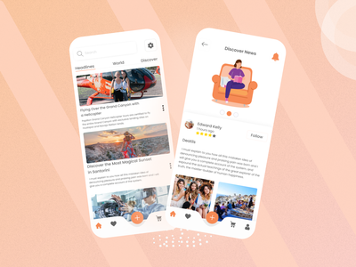 TrendNews – International News App design ui mobileapps color ios mobile newsfeed newspaper clean ui ux property document news discover writer details covid search book