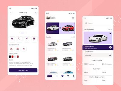 Car Mobile App Exploration redesign app design car ux mobile ui rental app mobile ios app cars detail product series brand product car app online store store ecommerce cards clean