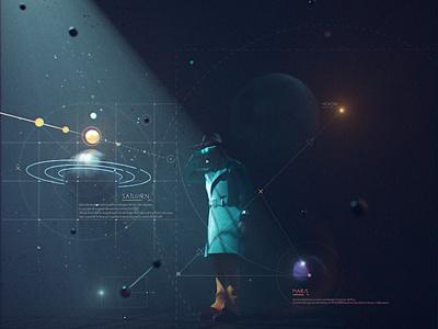 Space Investigator ae scifi design octane cinema4d planets space