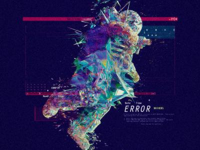 """""""_Astro Error_"""" computer data glitch error astronaut ae scifi design octane cinema4d planets space"""