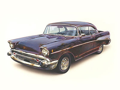 Classic Car old vintage automobile classic car car acrylic fine arts painting illustration