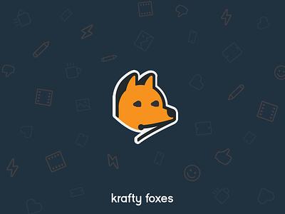 Krafty Foxes uk leeds icons icon vector logo typography illustration branding