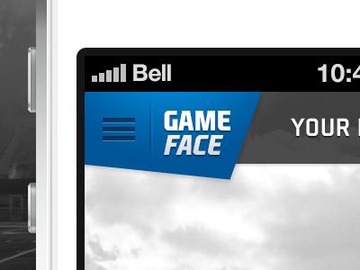 EA Sports GameFace iphone ios ea sports ea gameface ea sports gameface menu ui mobile blue