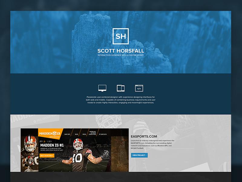 Portfolio 2.0 portfolio web web design ui scott horsfall