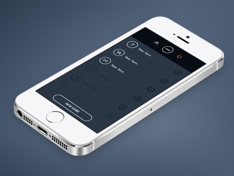 MEM - Single Player List memory game list mobile iphone ios mem game navigation ios7