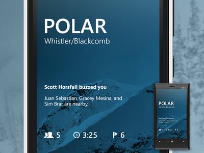Polar - Launch Screen ui mobile windows phone metro launch sfu siat skiing polar blue