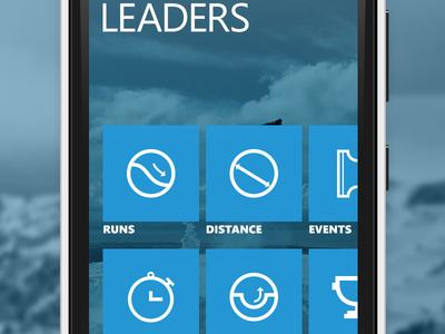 Polar - Leaderboard ui mobile windows phone metro sfu siat skiing polar