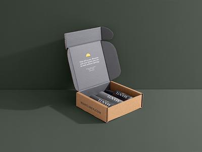 Mantl Shipper skincare d2c branding design packagingdesign box shipping box shipper packaging branding