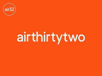 Air32 design minimal simple monogram branding logotype wordmark modern logo