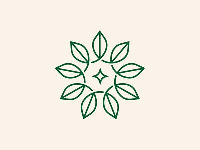 Nature Hype Network Logomark connected spark logomark badge circle nature leaf leaves geometric monoline minimal modern simple logo
