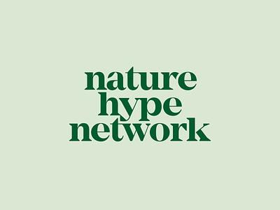 Nature Hype Network Logotype nature leaf brand identity branding design branding green serif logotype wordmark minimal modern simple logo