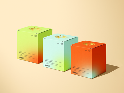 Packaging Design for Kind(le) candle packaging sun logo design minimal modern gradient candle branding box design packaging design