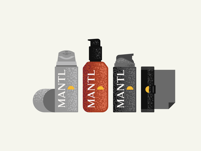 MANTL Product Illustrations bottle illustrations skin care texture modern geometric skincare product illustration