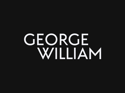 George William wordmark simple logo