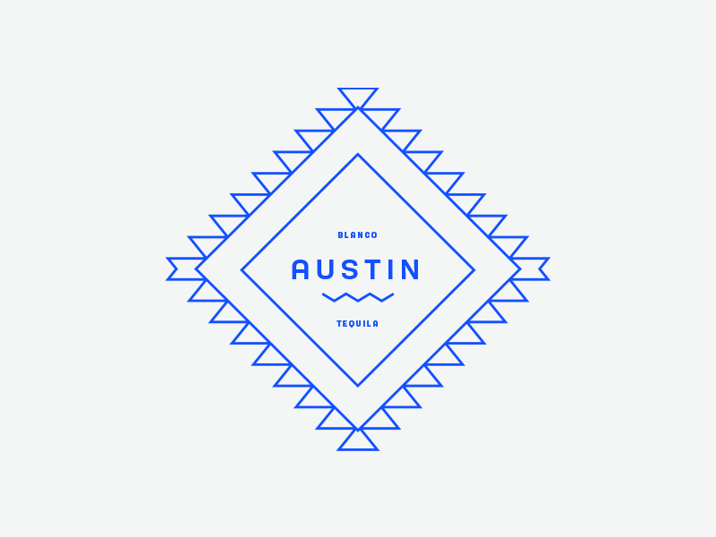 Austin geometric badge simple monoline logo