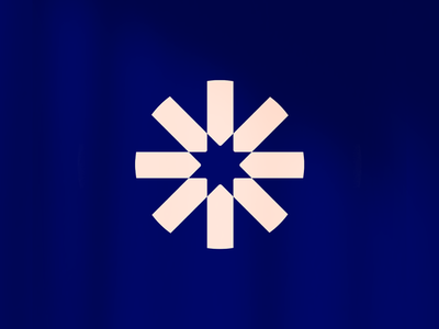 Sprocket's Logomark circle modern logomark flower logo gear sprocket flower cog