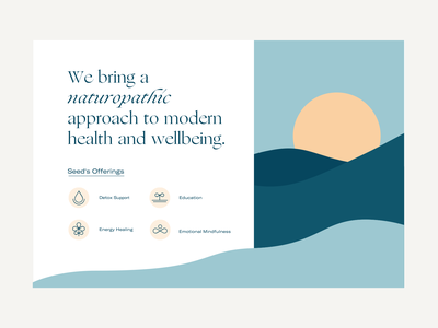 Seed modern simple dunes waves sunset iconography icons branding