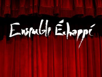 Calligraphic Title & Curtain brush paintbrush paint music theater curtain ensemble calligraphy