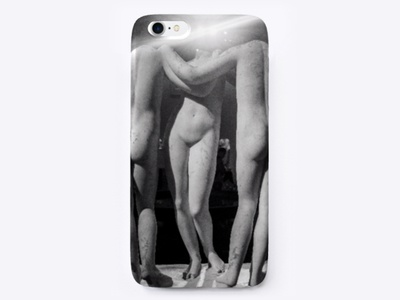 Night Nude print poster photography eyes glowing iphone case iphone black and white night nude