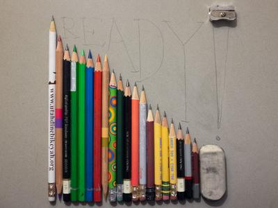 Ready! creativity sharpened john cleese sharpener eraser pencil ready